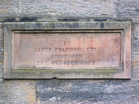 Foundation Stone, 1873. Wallacestone Methodist Church, Reddingmuirhead