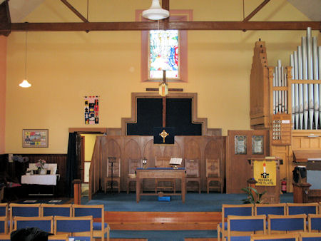 Interior of Wallacestone Methodist Church today