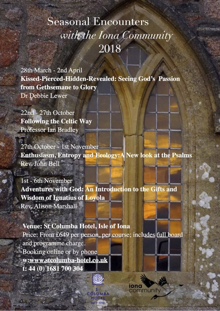 Iona Community programme 2018