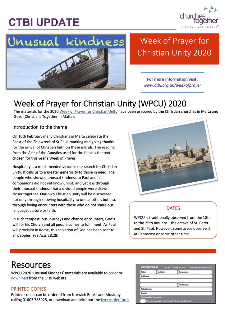 Week of Prayer for Christian Unity poster