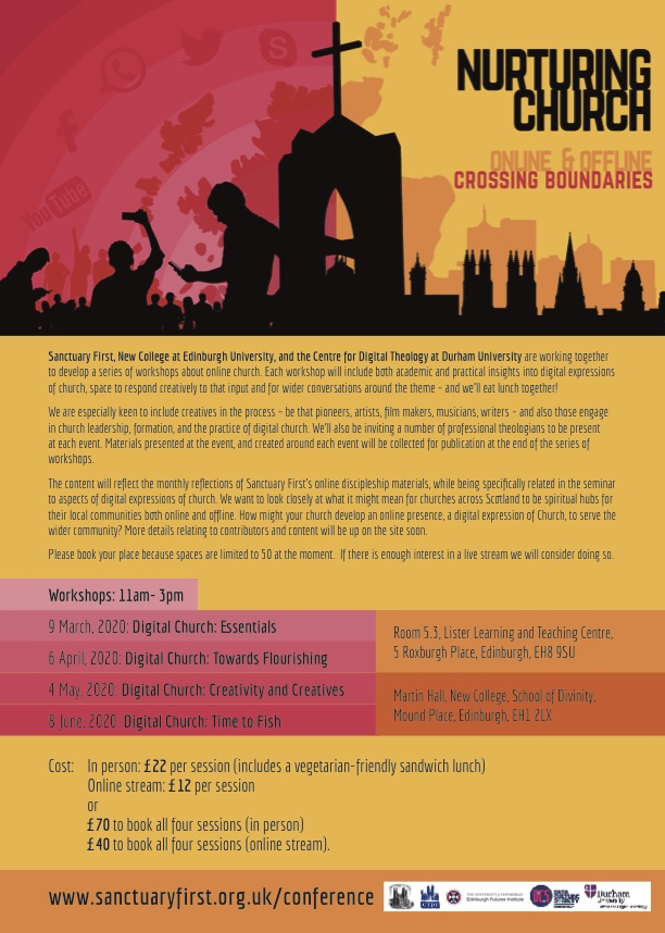 Digital Church Workshops poster