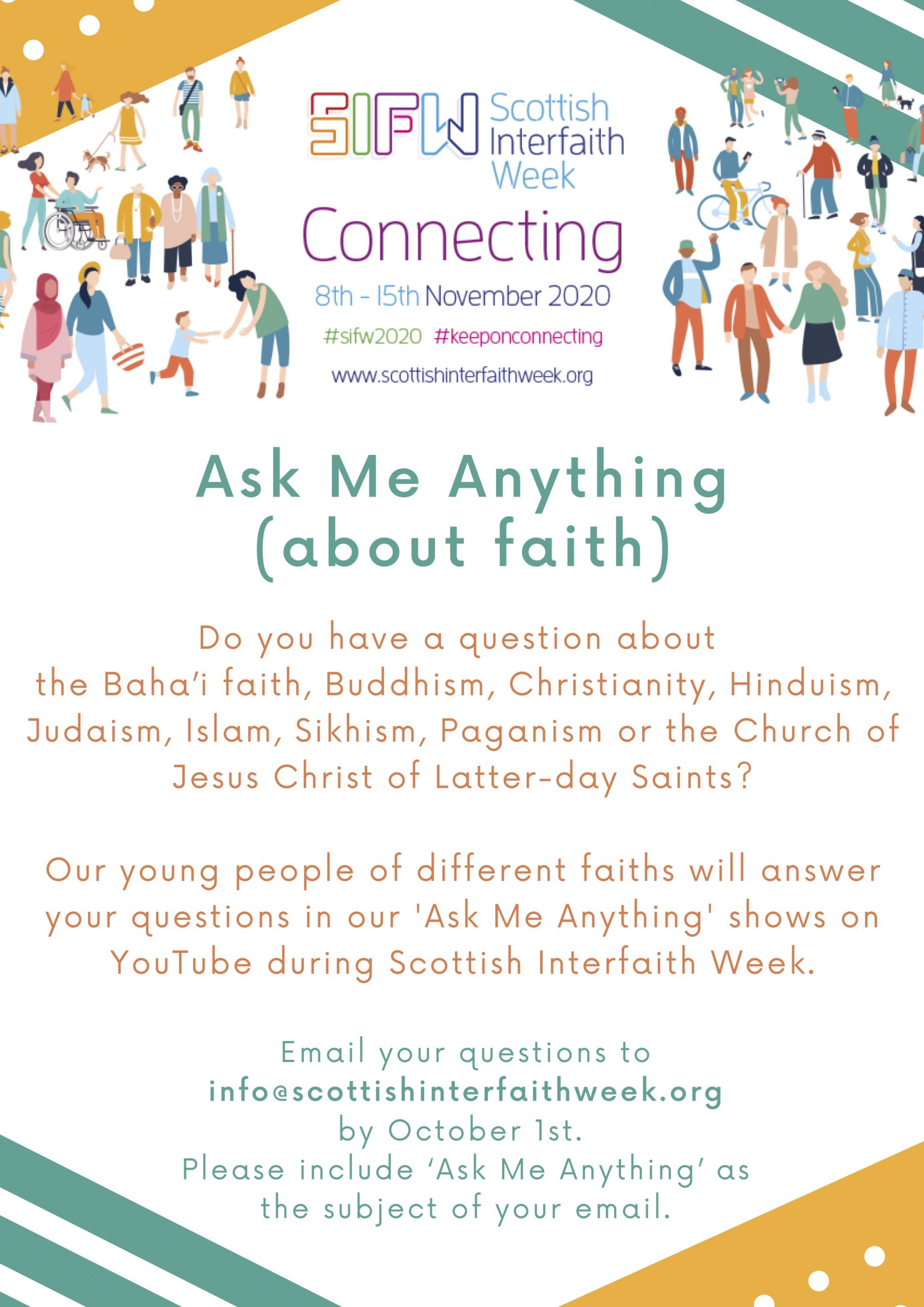 Ask me anything - Scottish interfaith poster