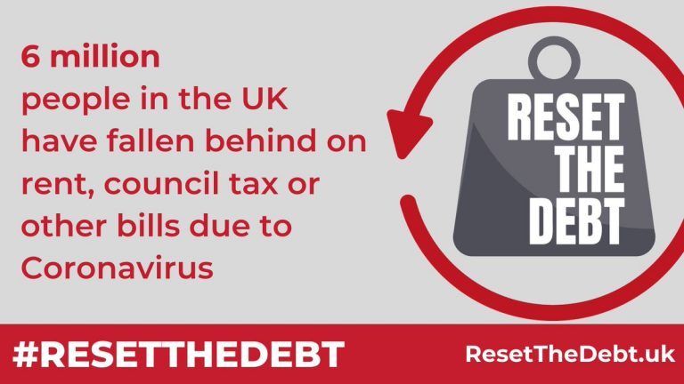 reset the debt logo