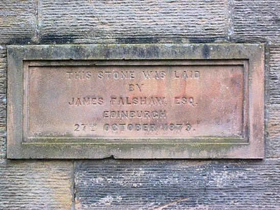 Foundation Stone, 1873. Wallacestone Methodist Church, Reddingmuirhead