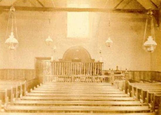 Interior of Wallacestone Methodist Church in 1873