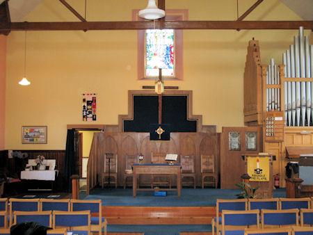 Interior of Wallacestone Methodist Church today