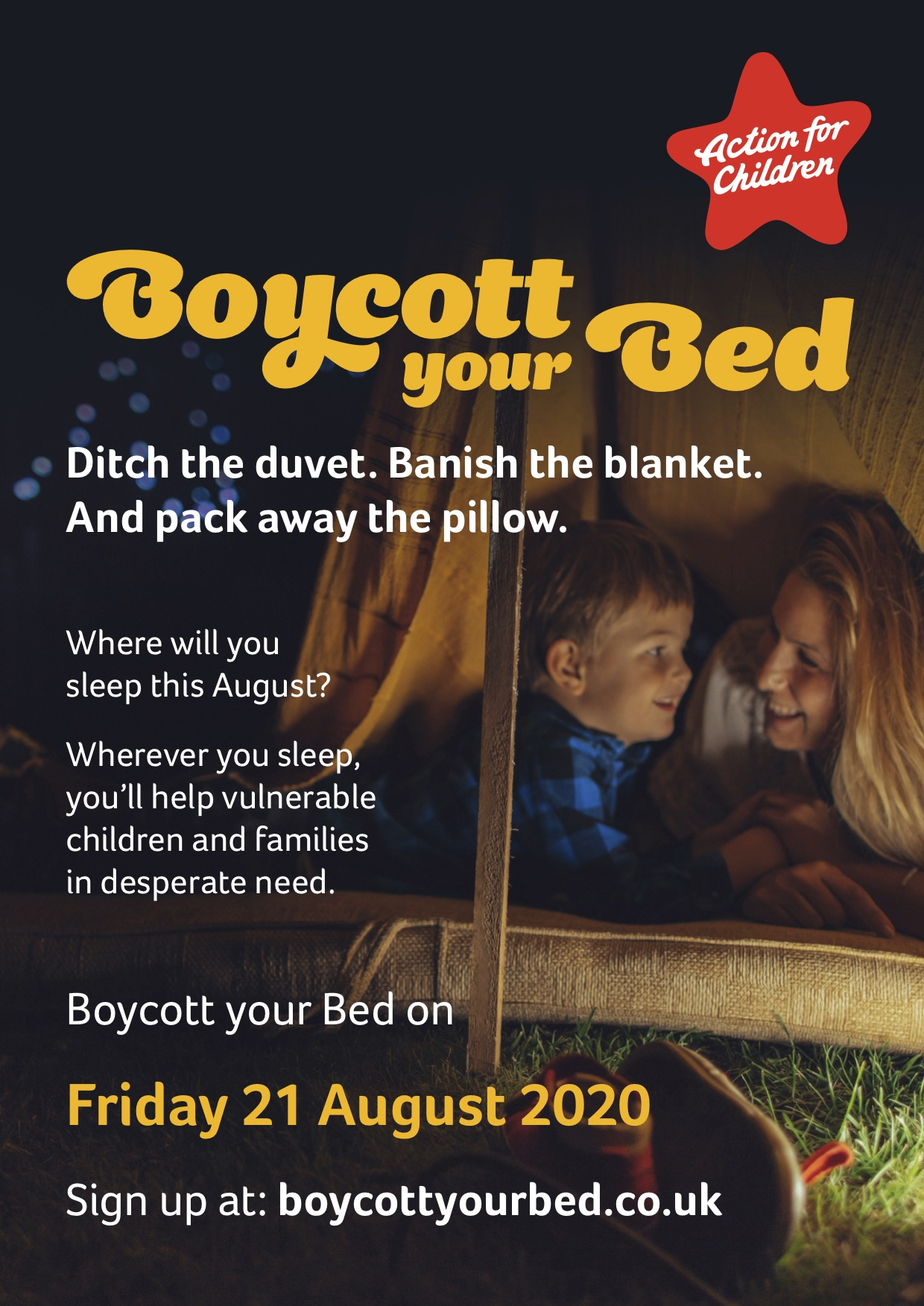 Flyer for Boycott your bed