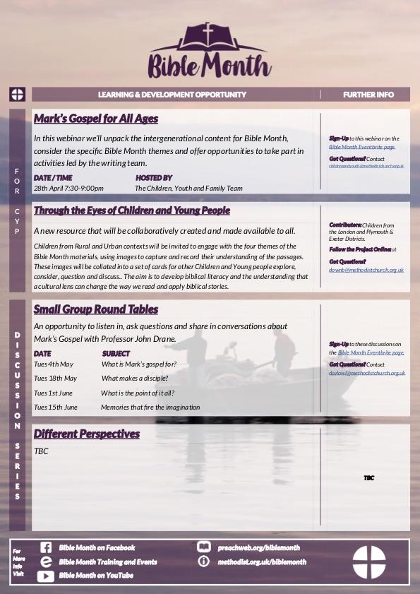 Bible month menu 2