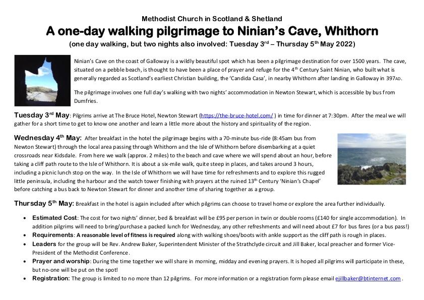 Pilgrimage flyer