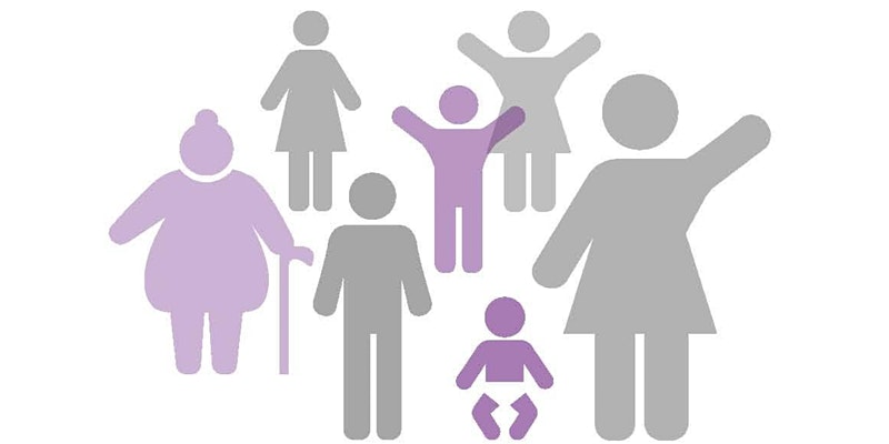 graphic of people of various ages